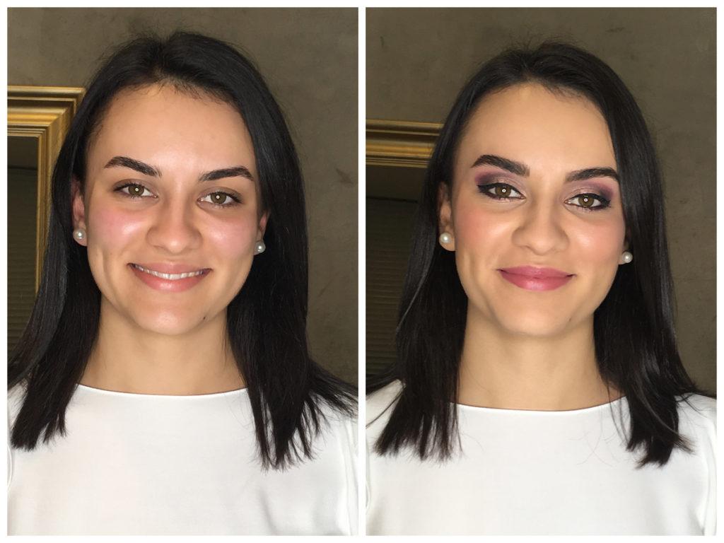 Berry Make-up vorher und nachher
